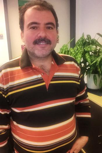 Ziad Kaleh bei der Stadtverwaltung Teltow